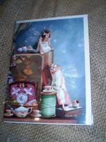 English Fairy Card,Everything stops for Tea