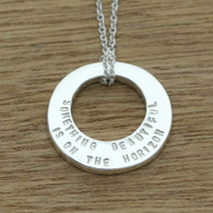 crescent circle necklace