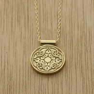 Gold mosaic necklace