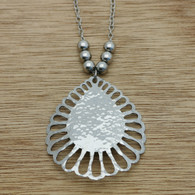 Sunburst necklace with beads