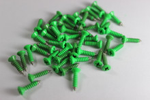 Corrosion Resistant Neon Green Powdercoated Pickguard Screws--->  Free Shipping!