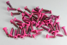 Corrosion Resistant Neon Pink Powdercoated Pickguard Screws--->  Free Shipping!