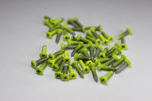 Corrosion Resistant Neon Yellow Powdercoated Pickguard Screws--->  Free Shipping!