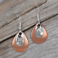 Two tone silver and copper.