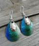 Emerald Green Iridescent Earrings