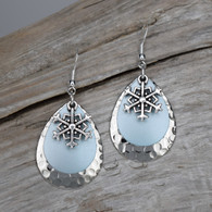 Snowflake earrings.