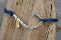 Fish Hook Bracelet: symbol of hope.  With a gold plated fishing lure.