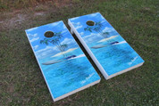 Custom Graphic Boards including two sets of four bags.