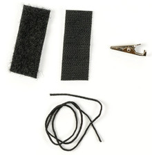 Velcro, clip and string to attach to your existing transmitter trip keys.