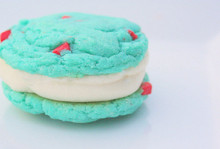 Blue Raspberry Chunk & Buttercreme Cookies - One Dozen