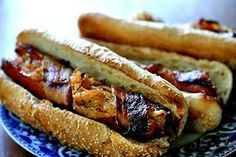 ... Sausages Grilled Bacon-Wrapped Stuffed Hot Dogs - (Free Recipe below
