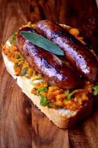 Butternut Squash & Sage Sausage Sandwich - (Free Recipe below)