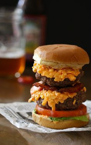 Double Pimento Burger w/ Crispy Bacon - (Free Recipe below)