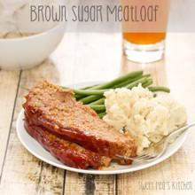 Brown Sugar Meatloaf - (Free Recipe below)
