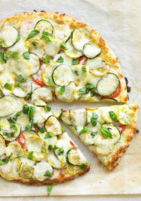 Squash & Zucchini Pizza - (Free Recipe below)