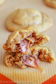 Rolo Stuffed Peanut Butter Cookies - (Free Recipe below)