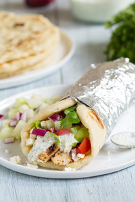 Greek Chicken Gyro Wrap - (Free Recipe below)