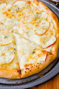 Caramelized Apple Gorgonzola Pizza - (Free Recipe below)