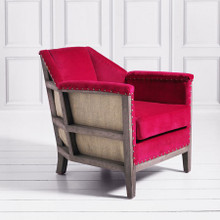 Hoxton Velvet Armchair  - available in Fuschia, Mustard, Grey and Creme