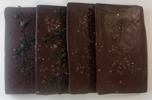 Gourmet Sea Salted Chocolate Bars, Set of Six