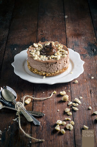 Nutella Cheesecakes with Salted Popcorn Crust - (Free Recipe below)