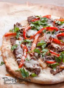 Philly Steak Pizza Flatbread Naan - (Free Recipe below)