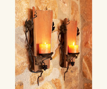 Antique Tuscan Wall Tile Sconces