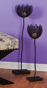 Flowers on Stems Wire mesh tea light/votive holders