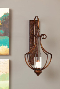 Contempo Hanging Metal Wall Sconce with Glass Cylinder