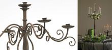 Archive Rustic metal candelabras - Set of 3