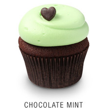 Chocolate Mint Cupcakes - One Dozen