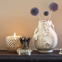 Antinqued Mercury Pineapple Candleholder