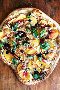 Nectarine Pizza with Fresh Basil and Reduced Balsamic - (Recipe click Product Description)