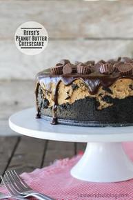 Reese's Peanut Butter Cheesecake - (Free Recipe below)