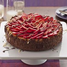 Strawberries and Champagne Cheesecake - (Free Recipe below)