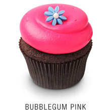 Bubblegum Pink Chocolate or Vanilla Cupcakes - One Dozen