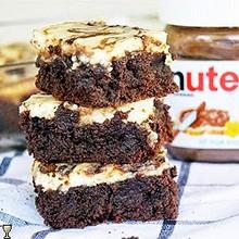 Nutella Cheesecake Brownies - (Free Recipe below)