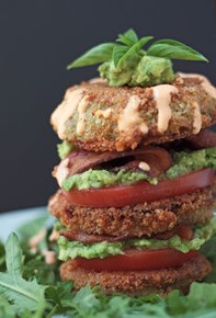 Fried Green Tomato BLT Salad - (Free Recipe below)