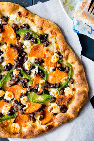 Sweet Potato, Black Bean and Goat Cheese Pizza - (Free Recipe below)