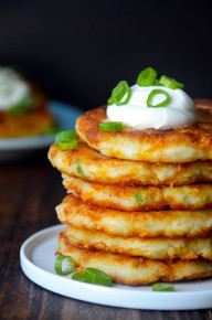Cheesy Mashed Potato Pancakes - (Free Recipe below)