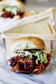 Cherry Chipotle Pulled Pork with Cilantro Lime Slaw - (Free Recipe below)
