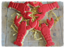 Lobster Nautical Shortbread Sugar Cookies - One Dozen