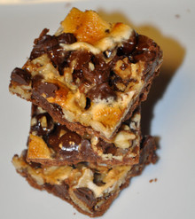 Rocky Road Walnut Chocolate Shortbread Brownies - 16 included