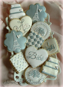 Paris Baby Cookies - One Dozen