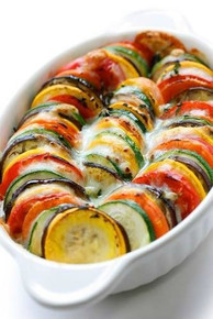 Eggplant and Zucchini Gratin by Julia Child - (Free Recipe below)