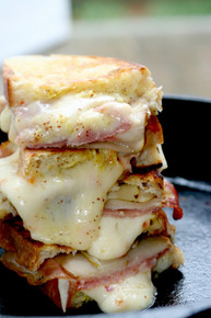 Habanero Jack Grilled Cheese with Pears & Prosciutto - (Free Recipe below)