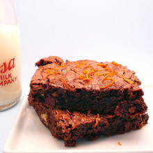 Orange Chocolate Brownies - 1/2 Dozen