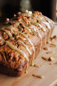 Caramel Glazed Apple Bread