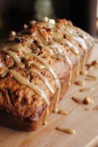 Caramel Glazed Apple Bread