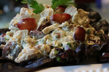 Curry Chicken Salad with Grapes and Walnuts - (Free Recipe below)